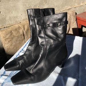 Cole Haan calf high black boots EUC size 8.5